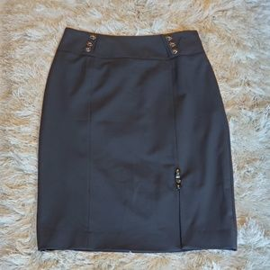 White House Black Market  Black Pencil Skirt Sz 4